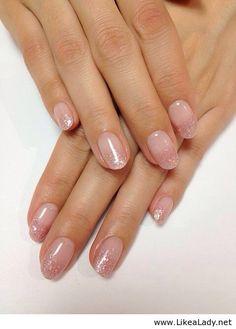 Pink nails. Gradation