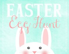DIY Vintage style chalkboard easter egg hunt sign - easter art print - spring decoration