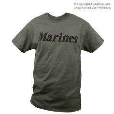 T-Shirt: Marines (Military Green)