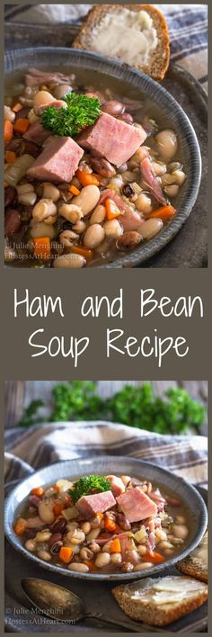 This Ham and Bean Soup Recipe is perfect for lunch…Edit description