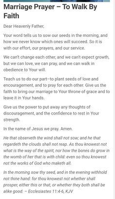 Prayer For My Marriage, Godly Marriage, Marriage Goals, Marriage Tips, Happy Marriage, Prayers For Healing, Bible Prayers, Bible Scriptures, Spiritual Awakening Quotes