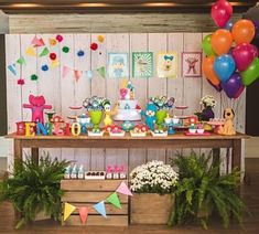 Kikids Party by Kiki Pupo: Festa Pocoyo fofa e colorida! 1st Birthday Party Themes, Birthday Table, Cars Birthday Parties, Toy Story Birthday, Girl First Birthday, Baby Party, Party Time, First Birthdays, Dessert Table