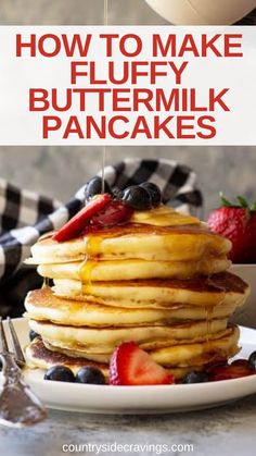 Brunch Recipes, Easy Dinner Recipes, My Recipes, Dessert Recipes, Buttermilk Pancakes Fluffy, Make Ahead Breakfast Casserole, Easter Brunch, Kid Friendly Meals, Recipe Using