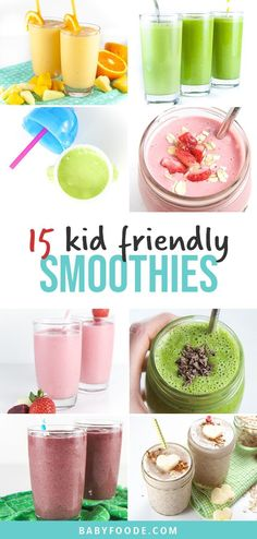 Toddler Smoothie Recipes, Baby Smoothies, Healthy Smoothies For Kids, Toddler Smoothies, Best Smoothie Recipes, How To Make Smoothies, Yogurt Smoothies, Apple Smoothies, Oatmeal Smoothies