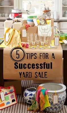 One of the best ways to make you home appeal to buyers is to clear out the personal junk and clutter! This is the perfect time to start getting your home ready for sale and to get rid of the unwanted junk. The weather is warm, the wind is on it's way out, why not have a yard sale? These tips will be sure to make your next yard sale a success!