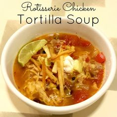 Haley's Daily Blog: Rotisserie Chicken Tortilla Soup- made this for supper tonight.  I added a little grated Monterrey jack cheese at the end.  Creamy and great-also used a small can of chopped green chilis instead of the jalapeño.  But I wish I had used a fresh pepper.  JJ