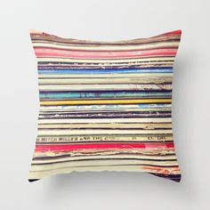 Vinyl Record Pillow, this would go in the music room