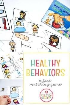 Healthy behavior is something we must teach to little learners. Children need an understanding of what happens when they are sick. Here is a free printable matching game that will help the kids to understand the cause and the effect of why they are sick. Science Activities, Activities For Kids, Preschool Science, Preschool Learning, Educational Activities, Classroom Activities, Elementary Counseling, Career Counseling, Kindergarten Classroom