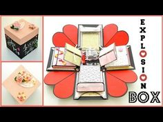 Explosion ( Exploding ) Box Card - DIY Paper Crafts - Birthday Anniversary Gift - Scrapbooking Idea - YouTube
