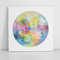 Abstract art, bright, bold and minimal.....experimenting with color and shape - 'LUNA SEA : BAY OF COLOUR' by Erin Flannery xx