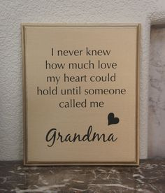 I never knew how much love my heart could hold by Frameyourstory, $24.95
