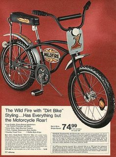 Early to Mid 1970's- I think we all got started right here!  Cheap department store BMX bikes were everywhere, jumping ramps and riding wheelies.