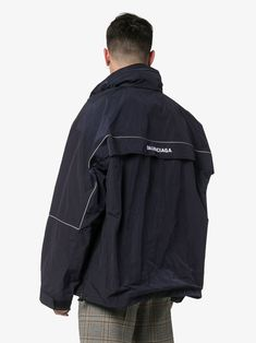 Shop Balenciaga zipped logo jacket from our collection. Sport Fashion, Mens Fashion, Street Fashion, Balenciaga Jacket, Columbia Sportswear, Men's Coats And Jackets, Sports Jacket, Sport Wear, Style Guides