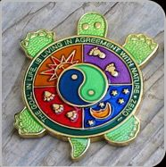 Earth Turtle 2007 Geocoin - Gold Edition, 1 of 20 made. Designed by tsunrisebey