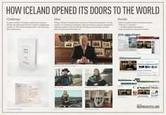 """Promote Iceland - """"Inspired by Iceland (Board)"""" Cannes Lions International Festival of Creativity 2012 tourism Lions International, International Festival, Inspired By Iceland, Arte Online, Concept Board, Tourism, Advertising, Challenges, Planks"""