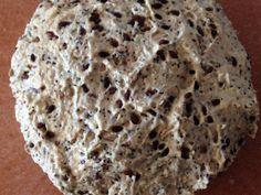 Masa pan de molde con semillas.