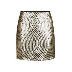 TopShop Tall Psych Sequin Swirl Mini Skirt (76 CAD) ❤ liked on Polyvore featuring skirts, mini skirts, gold, short white skirt, party skirts, mini skirt, tall skirts and short skirts