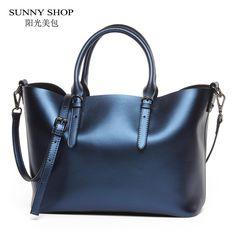 New American LUXURY Style Genuine Leather Women Shoulder Bag Brand Designer Cowhide genuine leather handbags Skin Crossbody bag-in Shoulder Bags from Luggage & Bags on Aliexpress.com | Alibaba Group