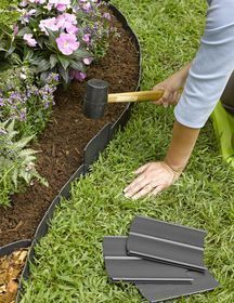 Front Yard Landscaping Discover Pound-In Plastic Landscape Edging - Lawn Edging Plastic Lawn Edging, Plastic Landscape Edging, Landscape Edging Stone, Stone Edging, Flower Landscape, Green Landscape, Watercolor Landscape, Landscape Paintings, Flower Bed Edging