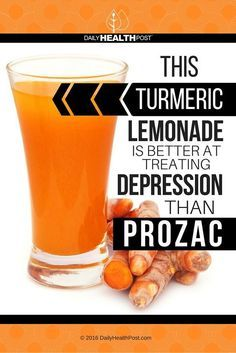 This Turmeric Lemonade Is Better At Treating Depression Than Prozac via Daily Health Post | dailyhealthpost.c...