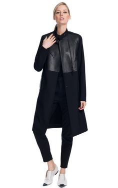 3.1 Phillip Lim/AW12  Nancy Oxford Flat with Toe Cap  Trompe L'Oeil Motorcycle Panel Evening Coat  Cropped Cadillac Trouser
