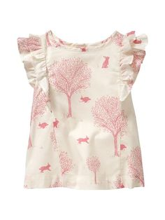 Gap Bunny Print Top