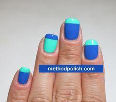 Color Block French Manicure #nails #nailpolish #manicure