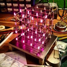 Something we loved from Instagram! My new selfmade LED-Cube...in #purple   #pink #led #ledcube #raspberrypi #diy #maker #i2c #pcb #nerd #geek #computer #science #engeneering #programming #informatik #technique #opensorce by science4fun Check us out http://bit.ly/1KyLetq