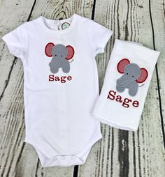 Gray and navy modern elephant baby gift set includes personalized elephant baby gift set monogrammed baby gift set baby gift set monogrammed gown negle Images