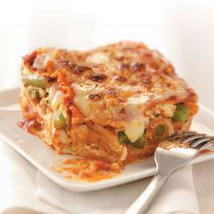 Veggie Lasagna Recipe from Taste of Home