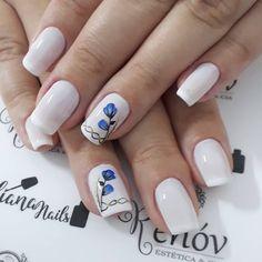 27 Modelos de Unhas com esmalte Branco Finger Nail Art, Fabulous Nails, Nail Inspo, Beauty Nails, Nail Art Designs, Painting, White Nail Beds, Art Nails, Chic Nails