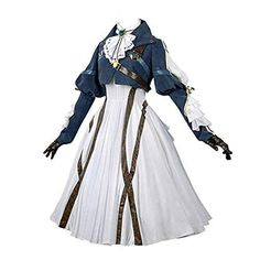 all white clothes : Nuoqi Violet Evergarden Cosplay Costume Womens Anime Uniforms Suit Dark Blue White: Clothing : nuoqi Kurzhaarpercke violett evergarden Cosplay Kostm Da Anime Uniform, Uniform Dress, Dress Suits, Cosplay Dress, Cosplay Outfits, Anime Outfits, Cool Outfits, Cosplay Girls, Cosplay Boots