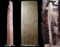 """""""En Chavín de Huántar podemos apreciar, en la actualidad muchos ejemplos del arte de labrado en piedra en piezas únicas que hoy llamamos Estela Raimondi, Obelisco Tello, Lanzón Monolítico, La Medusa y otras como la Cornisa de las Falcónidas, las columnas de la portada principal del Templo Nuevo, las piedras grabadas de la Plaza Circular Hundida y las """"Cabezas Clavas"""", esculturas de cabezas humanas con atributos divinos que estuvieron clavadas a modo de cornisa en el Templo Nuevo."""" John H…"""
