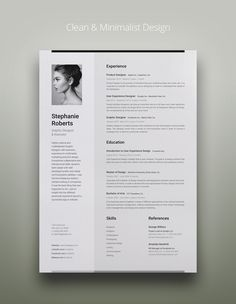 Professional Resume 1 Vertical Layout & White Background Strong and at the same time ultra clean and minimalist design for your serious representation. Resume Design Template, Cv Template, Resume Templates, Portfolio Resume, Portfolio Design, Cv Curriculum, Curriculum Vitae Layout, Word Cv, It Cv