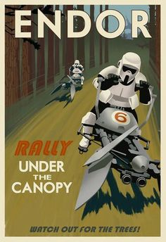 Scout troopers racing through endor