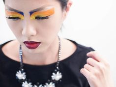Attempted the makeup look from Dior Couture 2010 show. Colourful makeup. Fashion makeup.