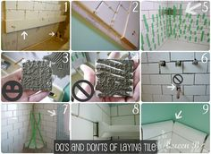 Do's & Dont's of Laying Tile + Subway Tile DIY Tutorial from Queen B & Me #diy #tile