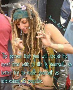 ☮ American Hippie ☮ Be You ... [Image via Pinterest: Credit - Artist]