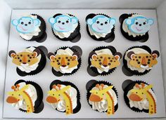 Safari Animal Cupcakes by Love & Sugar Bakeshop, via Flickr