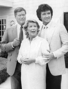"Larry Hagman, Barbara Bel Geddes and Patrick Duffy, ""Dallas"", 1980"