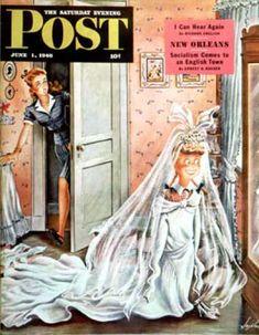 1946-06-01: Wedding Dress-Up (Constantin Alajalov) Saturday Evening Post