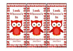 This is a super cute owl themed bookmark to give to your Kindergarten students on the first day back to school or later in the year! $1.00