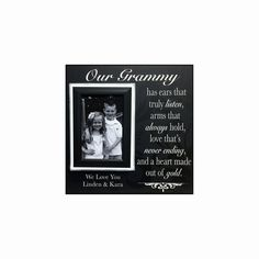Grandmother Gift from Grandchildren  Picture Frame by MemoryScapes