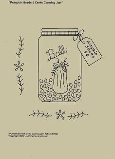 Primitive Stitchery EPattern Pumpkin Seeds 5 par JoAnnCountryCorner, $2.00