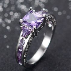 sz 6/7/8/9/10 Royal  Purple Zc princes cut ring . Starting at $5