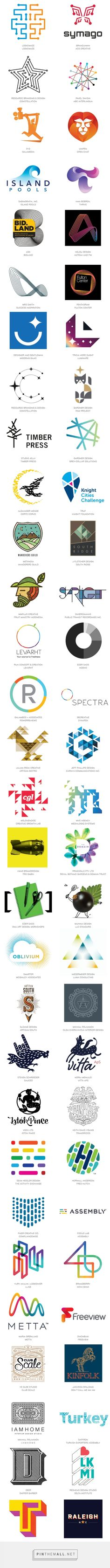 2015 LogoLounge Trend Report on LogoLounge.com... - a grouped images picture - Pin Them All