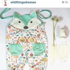 Foxy fable alert! Check out this gorgeous baby romper suit from @wildthingsdresses ( reposted) with my fablewood fabric from @dashwoodstudio ❤️this. Thanks for creating and sharing your brilliant creation.... #super talented #fun #fox #sew #handmade #prin
