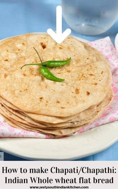 Learn about how to make Chapati/Chapathi , Indian flat bread with whole wheat flour, salt, water and touch of oil . #flatbread #Indianflatbread #chapathi #roti Missi Roti, Pcos Diet Plan, Bread Recipes, Cooking Recipes, Indian Flat Bread, Sorghum Flour, Chapati, Latin Food, Plant Based Recipes