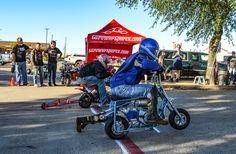 Mini bike race at Billy Bob's in Fort Worth, 8 Oct. 2017
