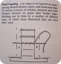 My happy sewing place...: F is for Fagoting